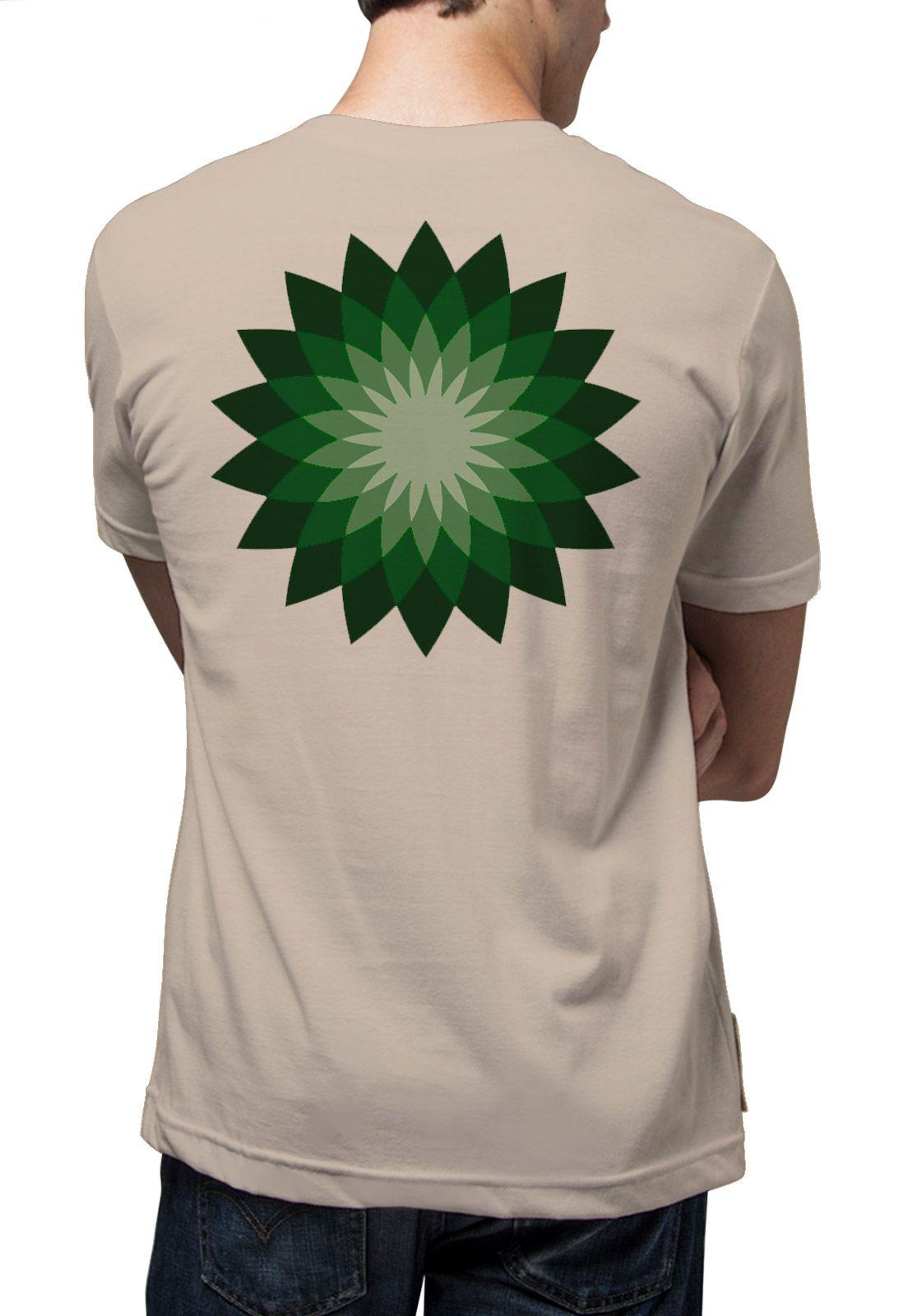 Camiseta Amazônia Lotus Gráfica - Caqui