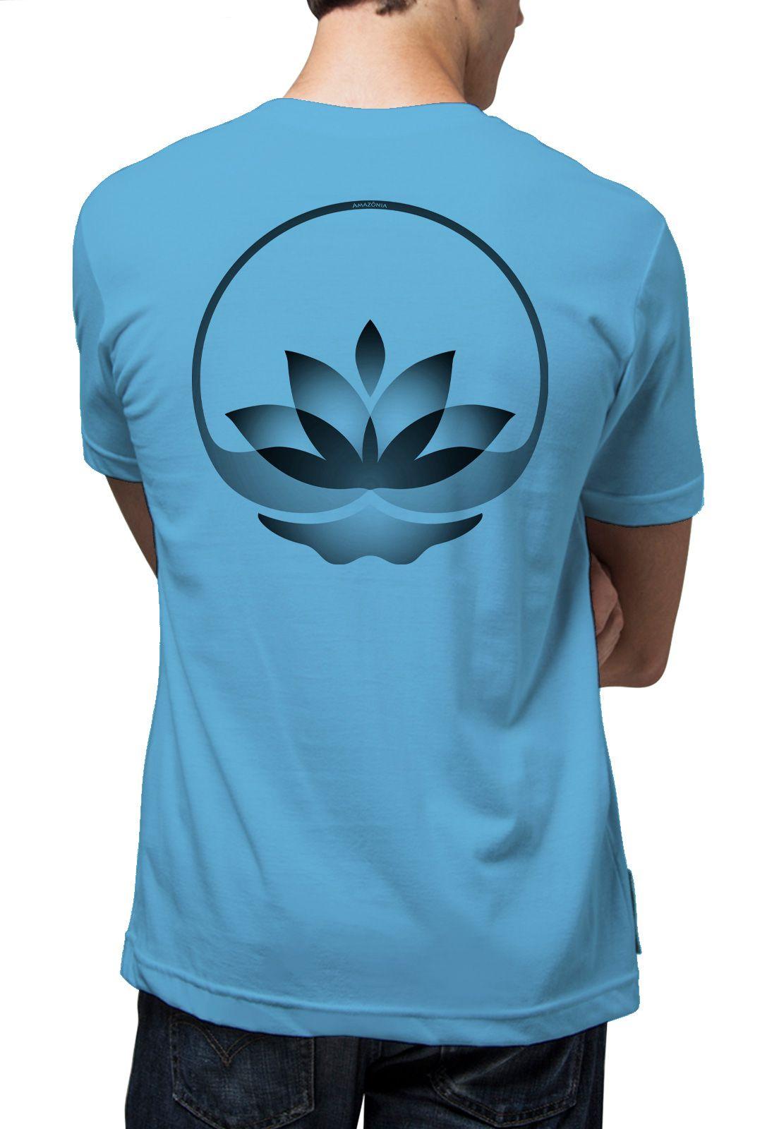 Camiseta Amazônia Lotus Meditando - Azul