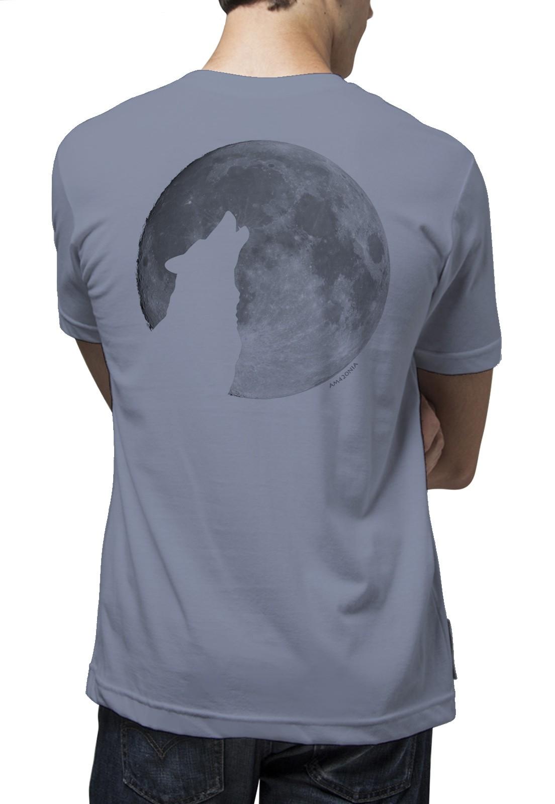Camiseta Amazônia Lua Cheia - Azul