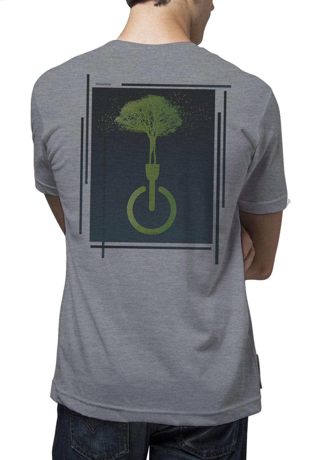 Camiseta Amazônia Luz Natureza - Mescla