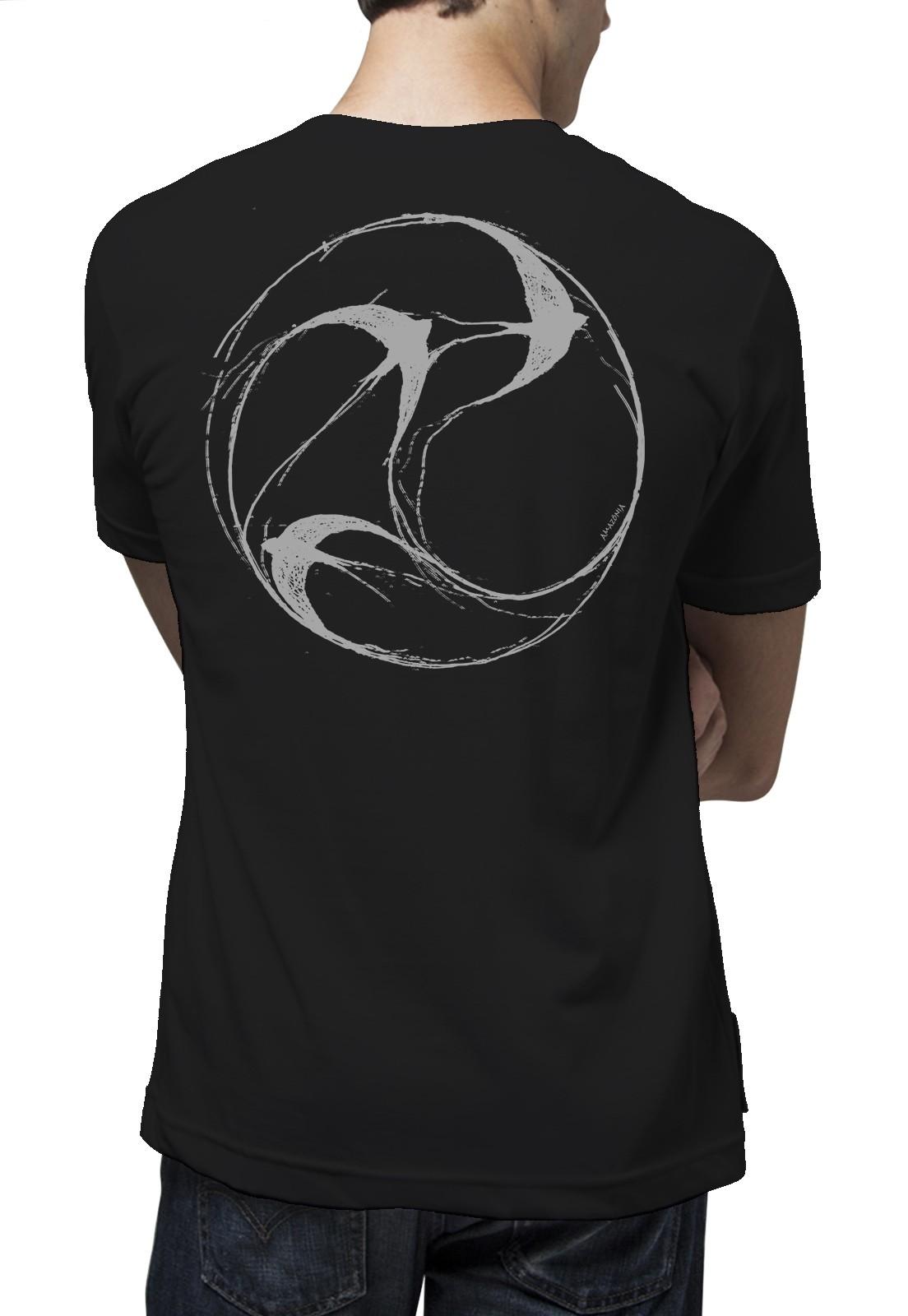 Camiseta Amazônia Mandala Andorinha - Preto
