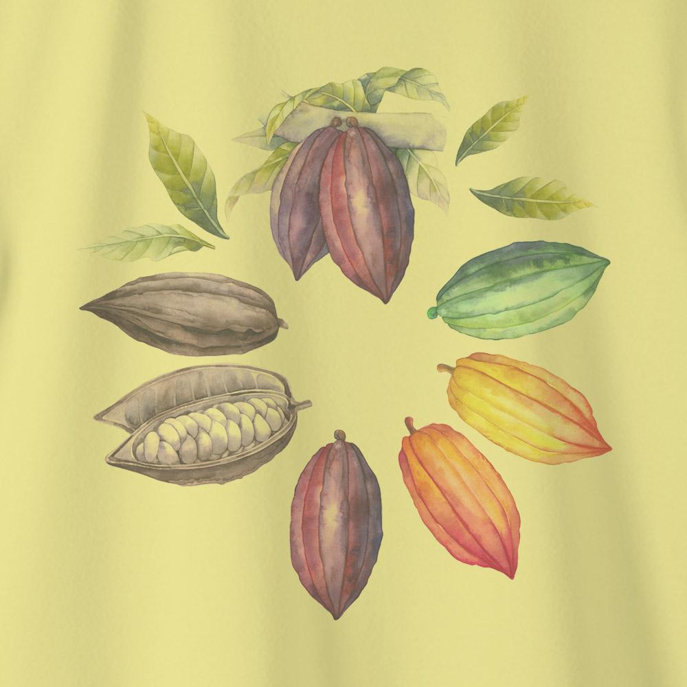 Camiseta Amazônia MANDALA CACAU - AMARELO