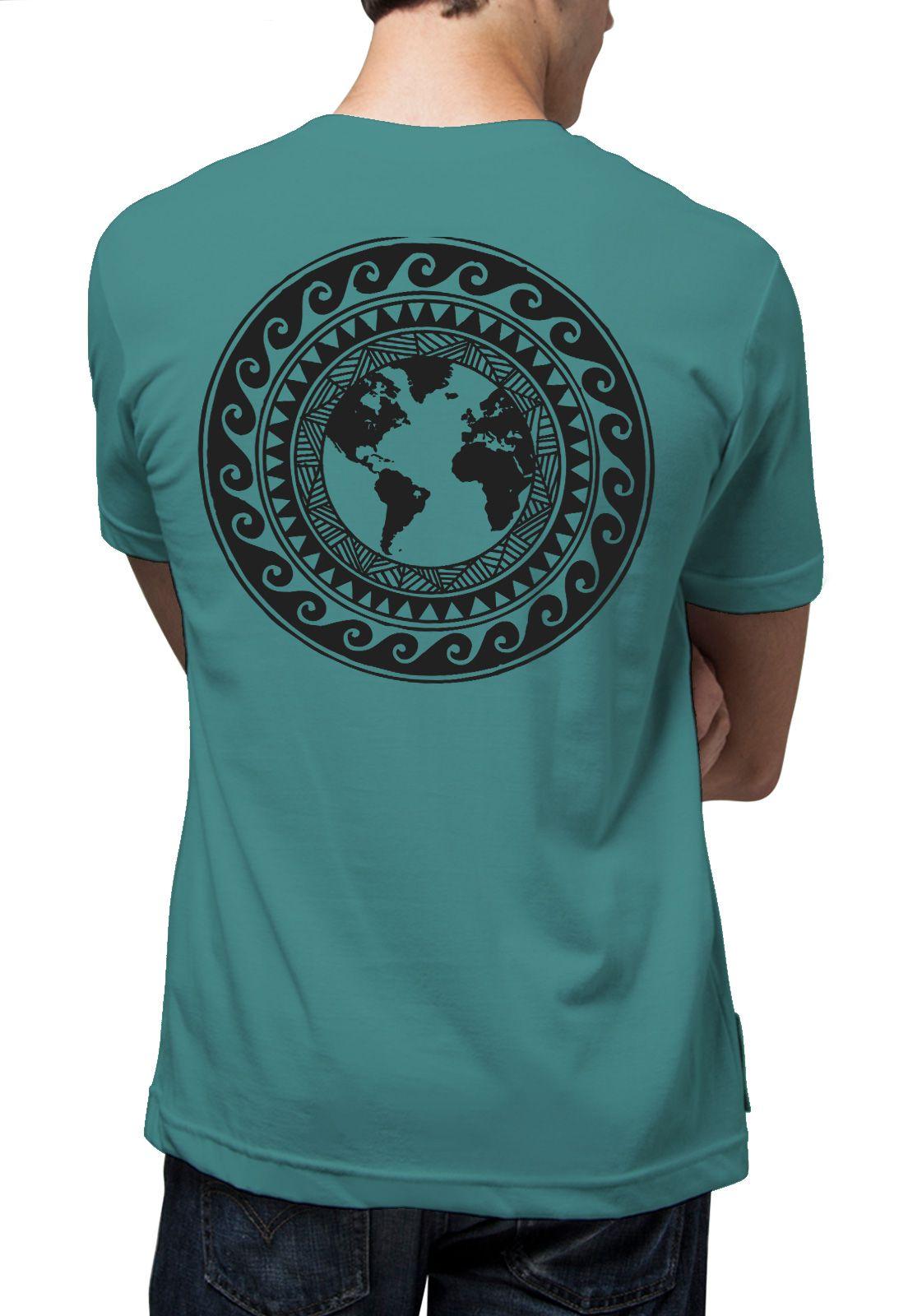Camiseta Amazônia Mandala Mundo - Azul