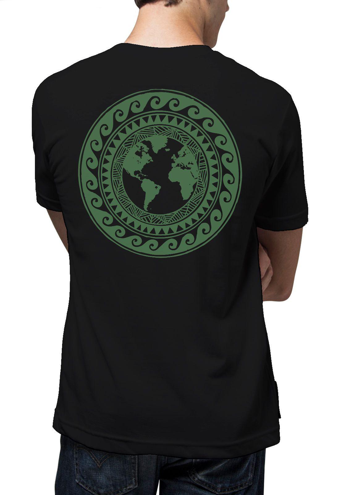 Camiseta Amazônia Mandala Mundo - Preto