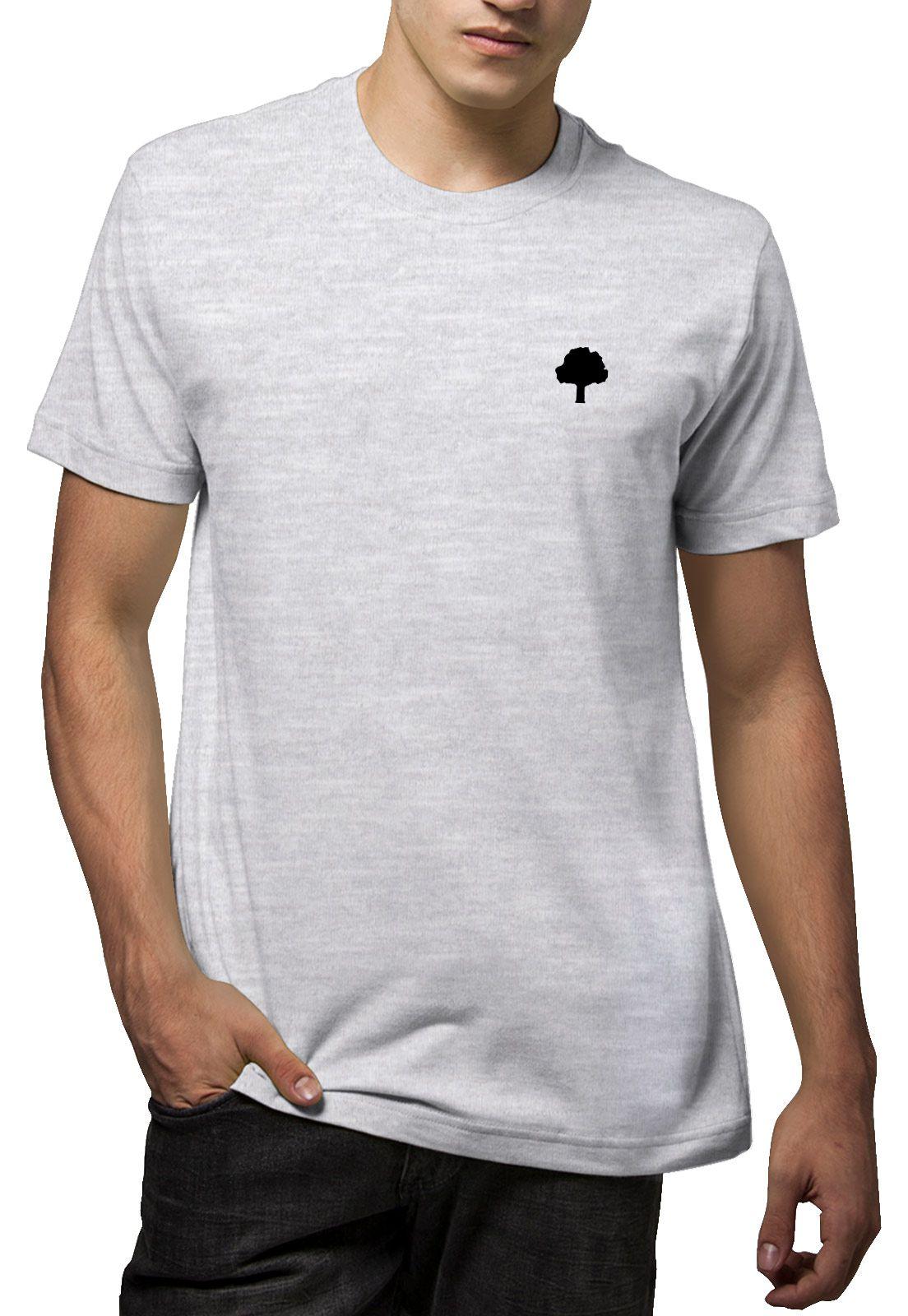 Camiseta Amazônia Mandala Pena - Mescla Claro