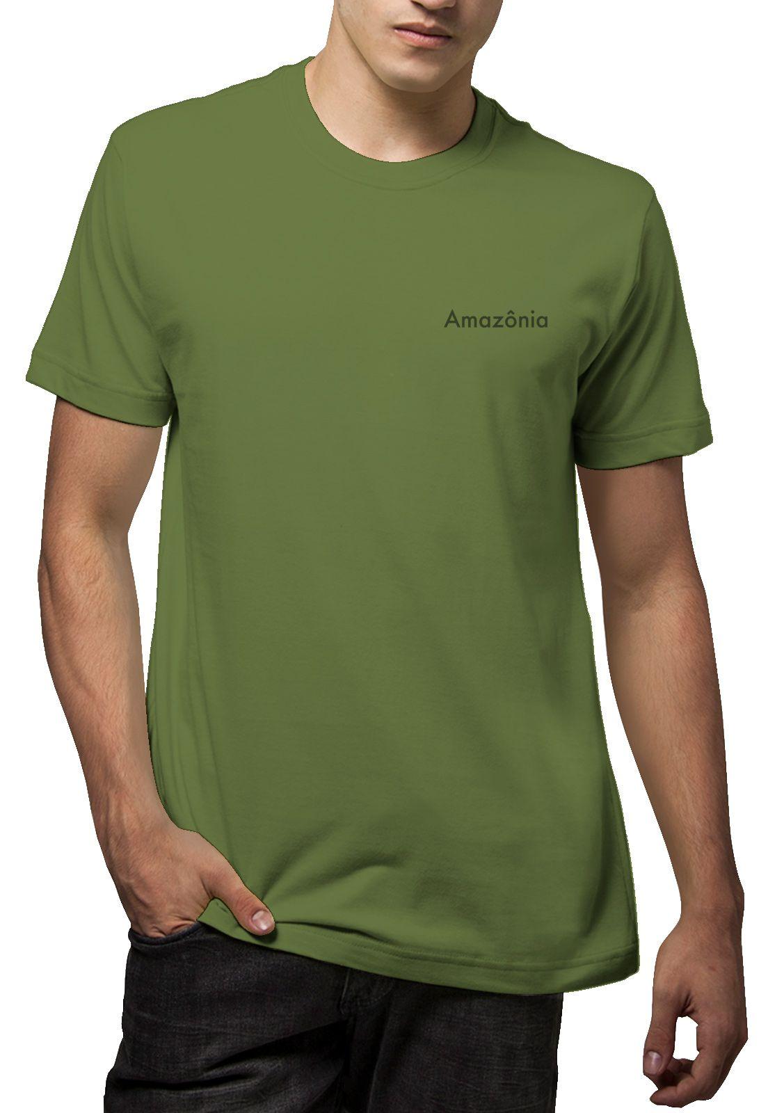 Camiseta Amazônia Mandala Planta - Verde