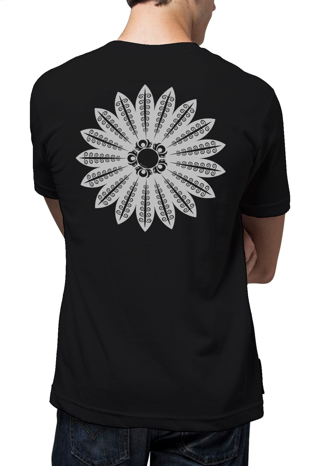 Camiseta Amazônia Mandala Xingu - Preto