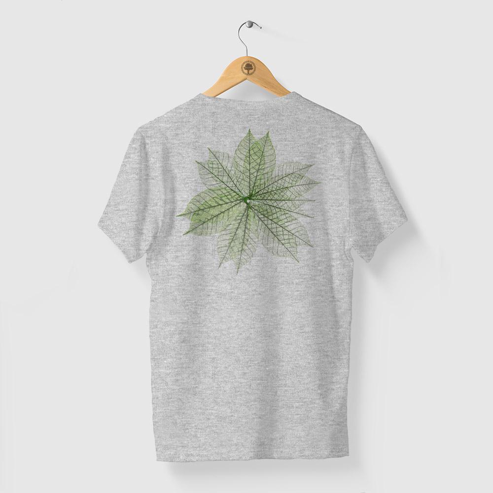 Camiseta Amazônia MIL FOLHAS - MESCLA CINZA