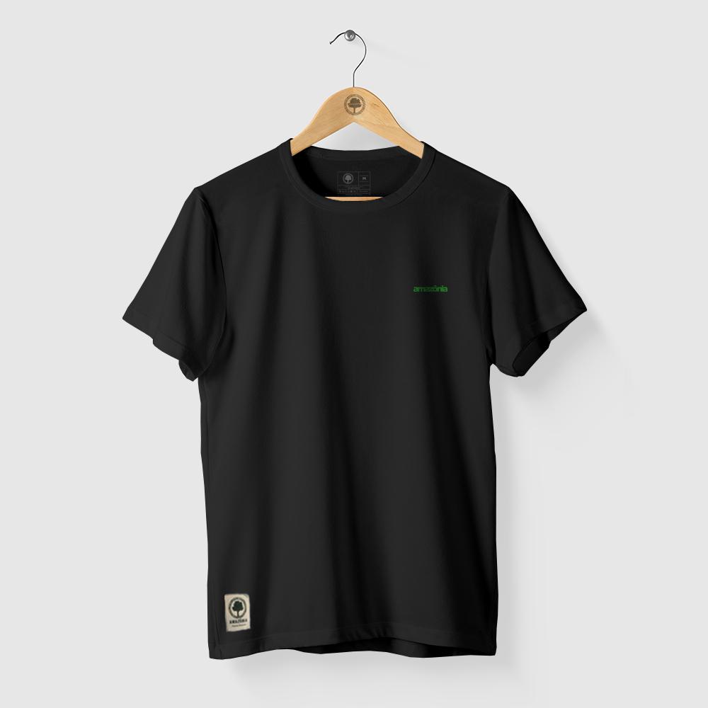 Camiseta Amazônia MIL FOLHAS - PRETO