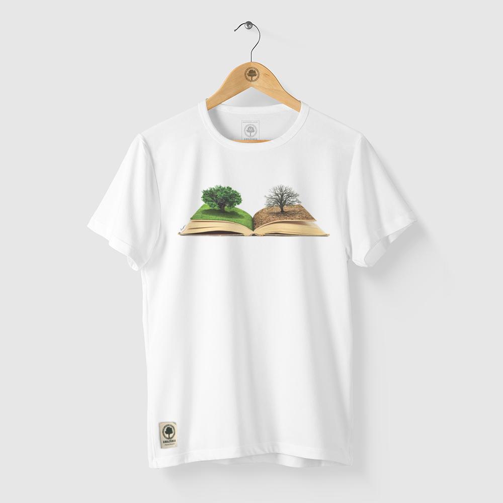 Camiseta Amazônia Mudar a História - Branco