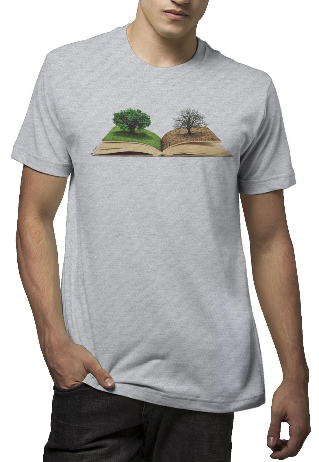 Camiseta Amazônia Mudar a História - Mescla Claro