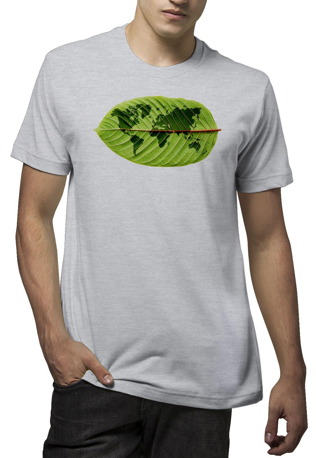 Camiseta Amazônia Mundo Folha - Mescla