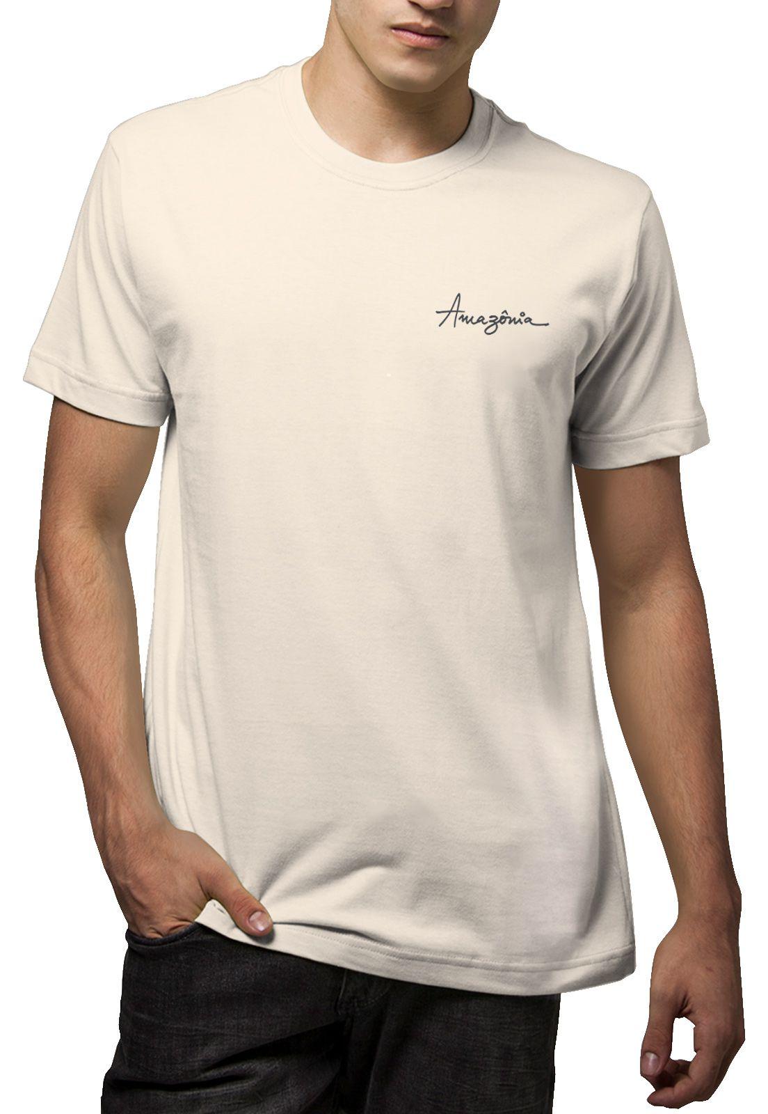 Camiseta Amazônia Música para a Natureza - Off White