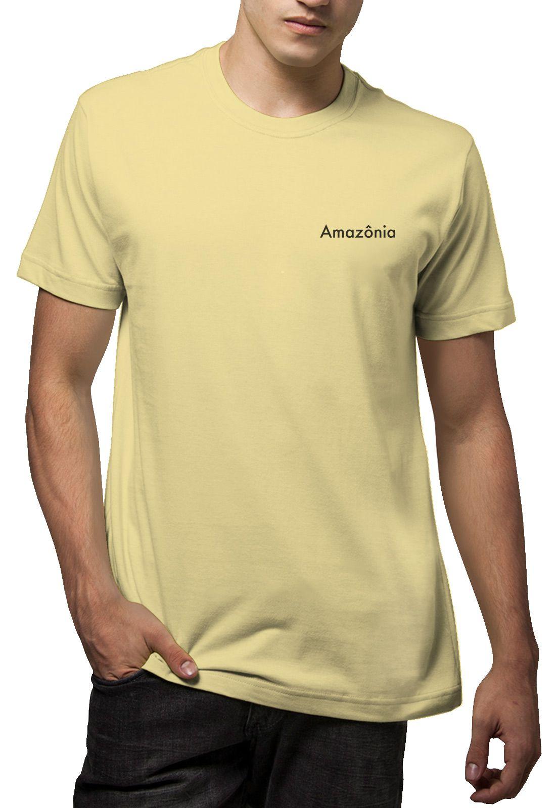 Camiseta Amazônia Noronha - Amarelo