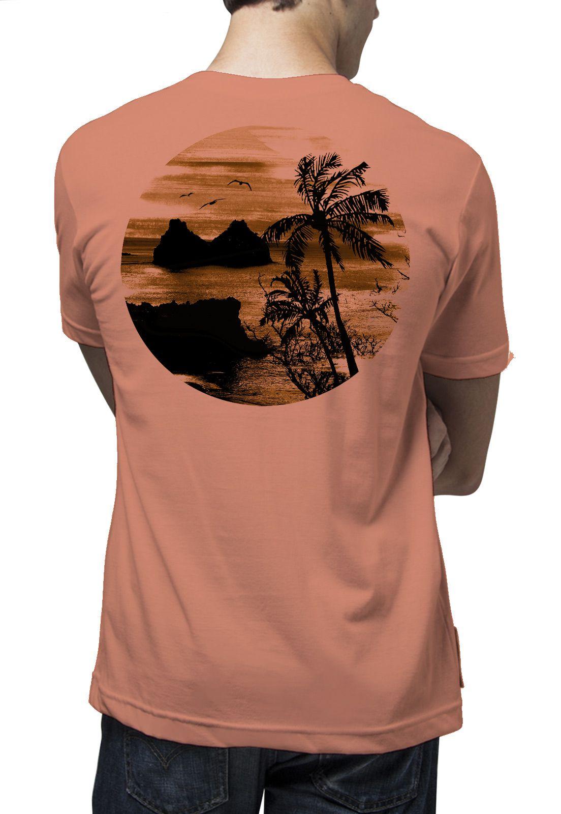 Camiseta Amazônia Noronha - Salmão Escuro
