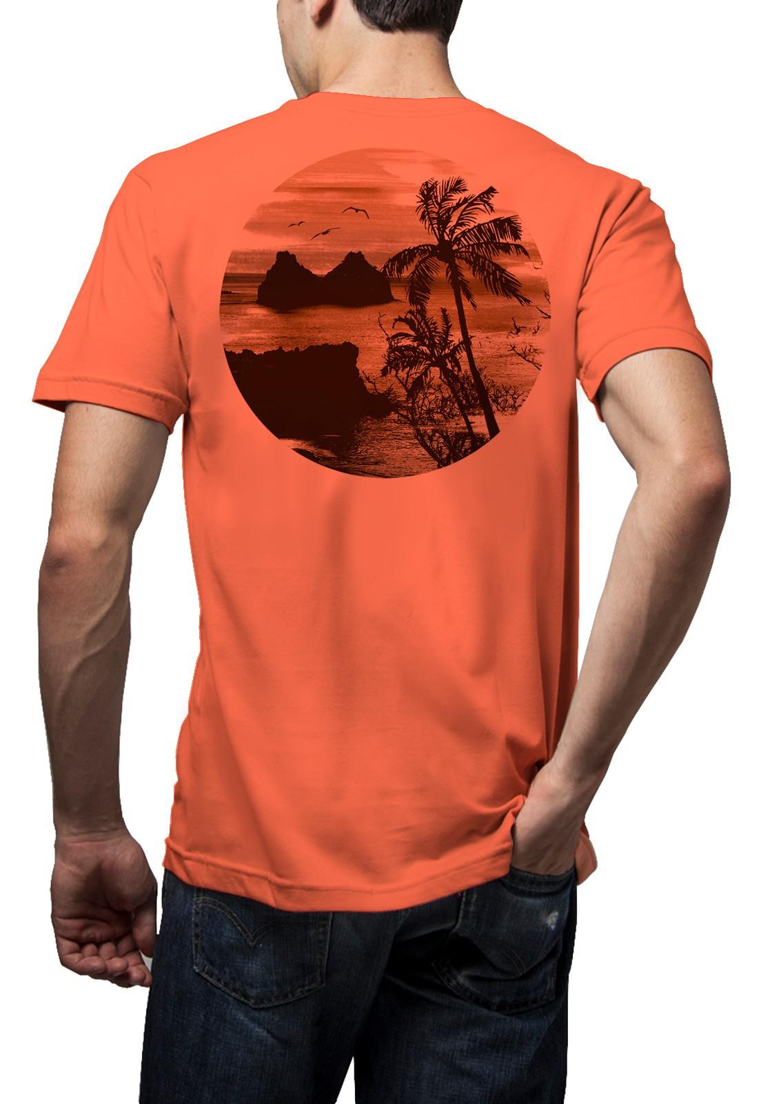 Camiseta Amazônia Noronha - Salmão