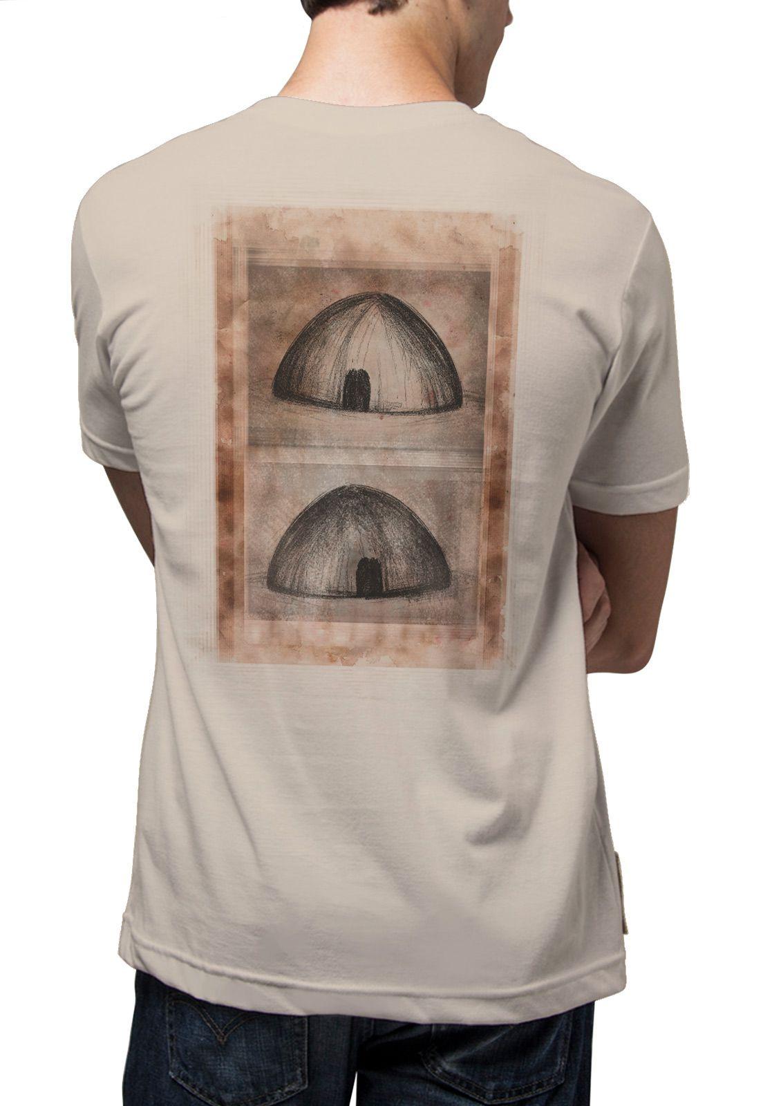 Camiseta Amazônia Oca Indígena - Bege