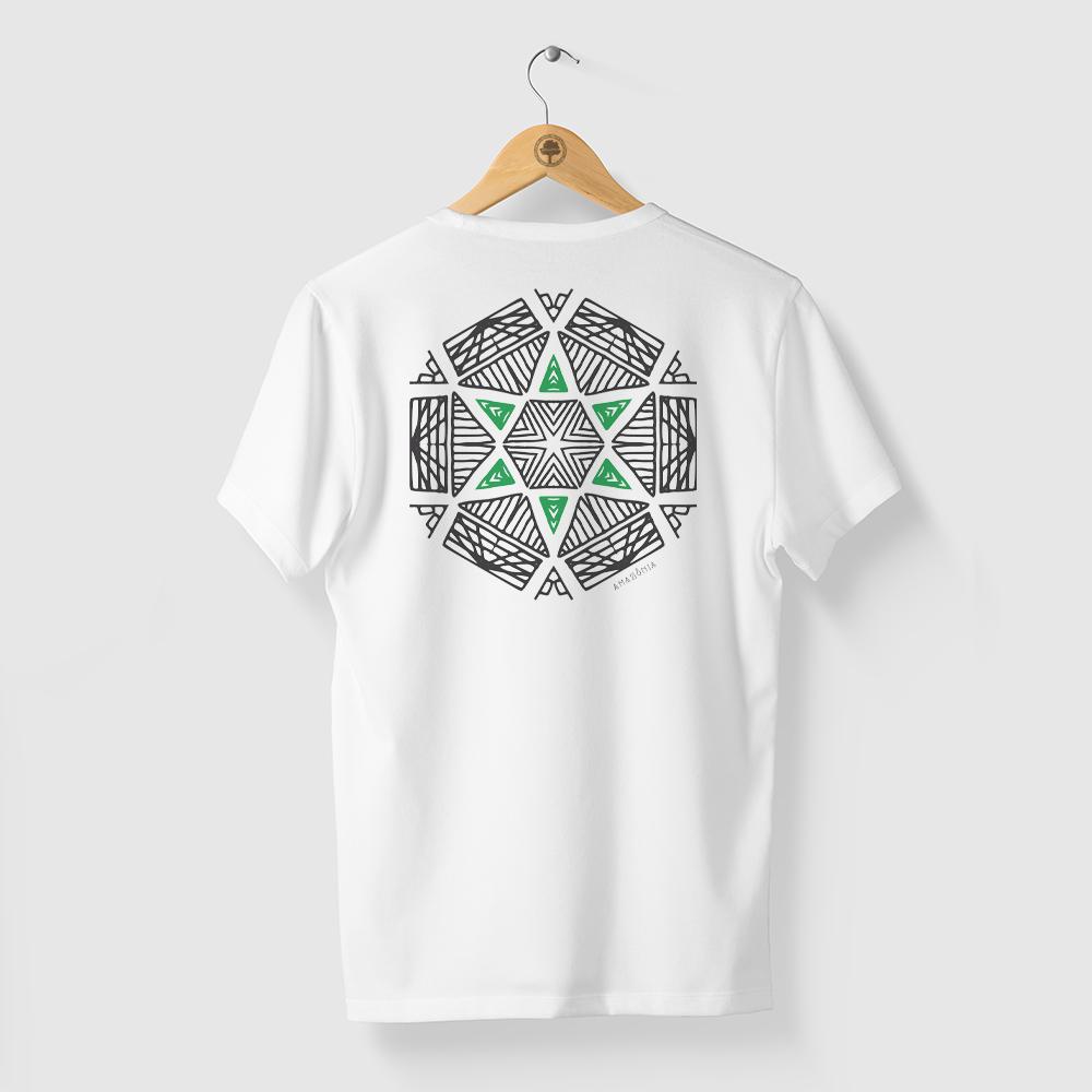 Camiseta Amazônia Oca Mandala - Branco