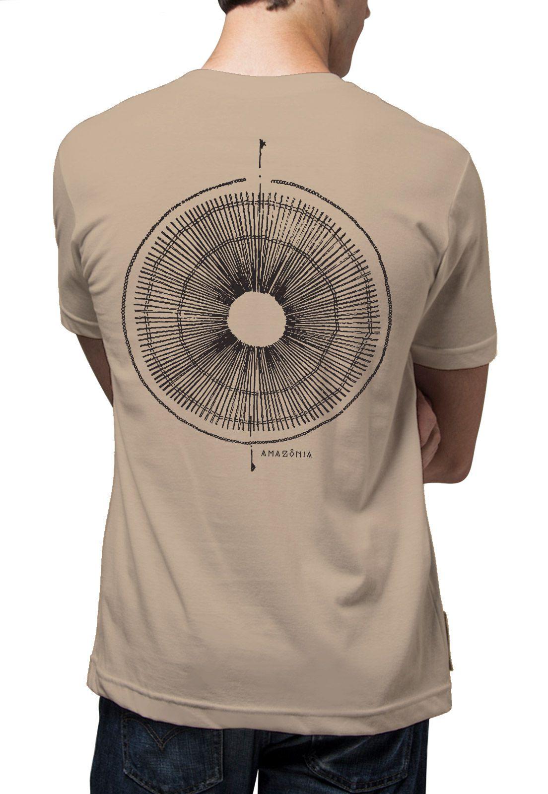 Camiseta Amazônia Oca Yanomami - Caqui