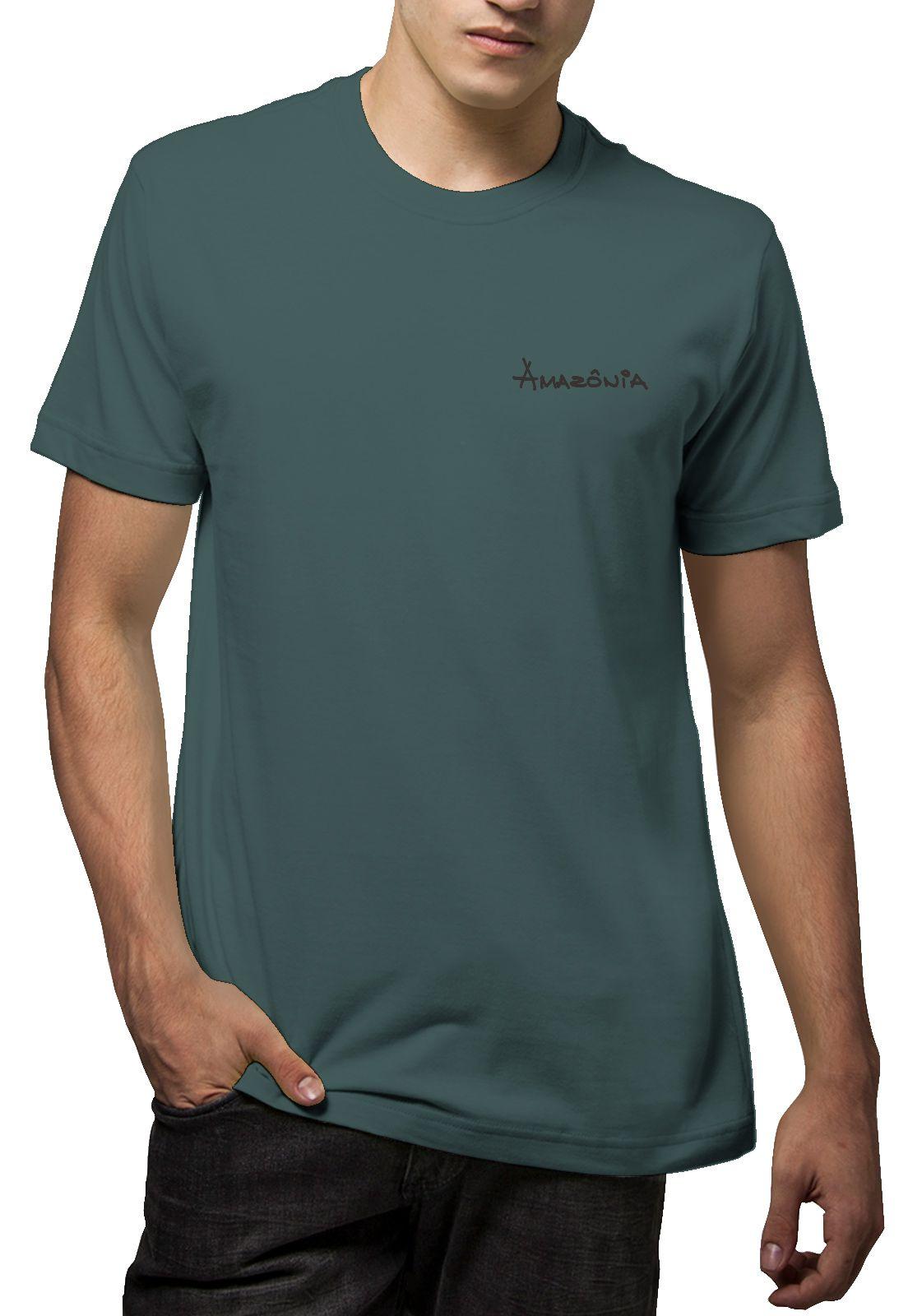 Camiseta Amazônia Olho de Hórus - Cinza Escuro