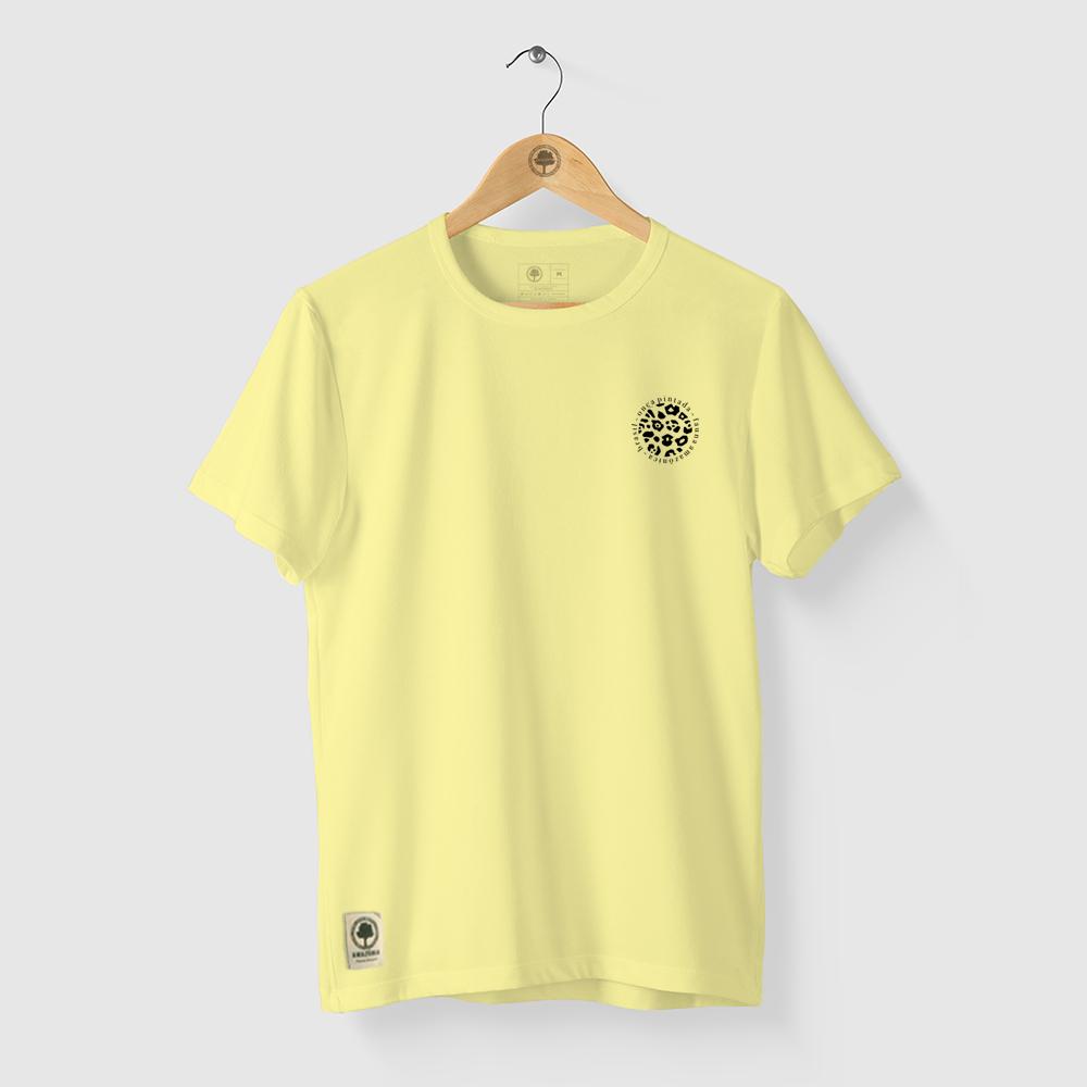 Camiseta Amazônia Onça Verdadeira - Amarelo