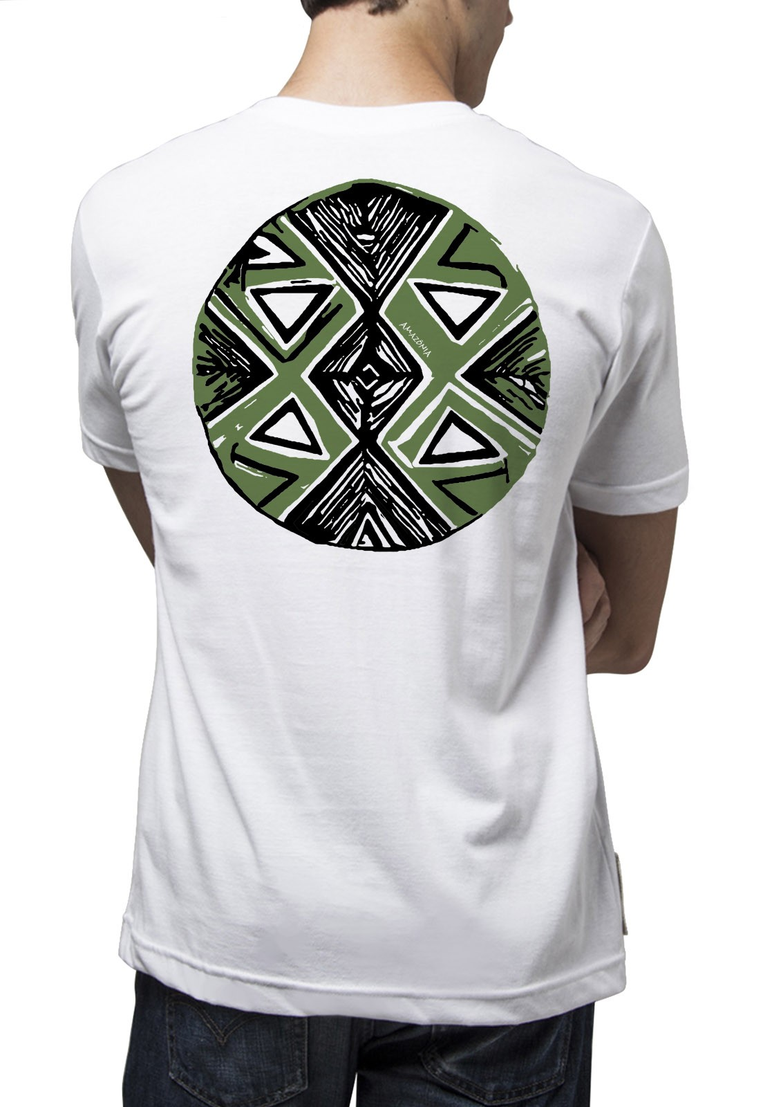 Camiseta Amazônia Origem Mandala - Branco
