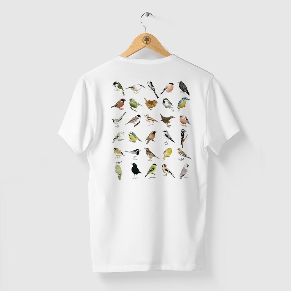 Camiseta Amazônia Ornitologia - Branco