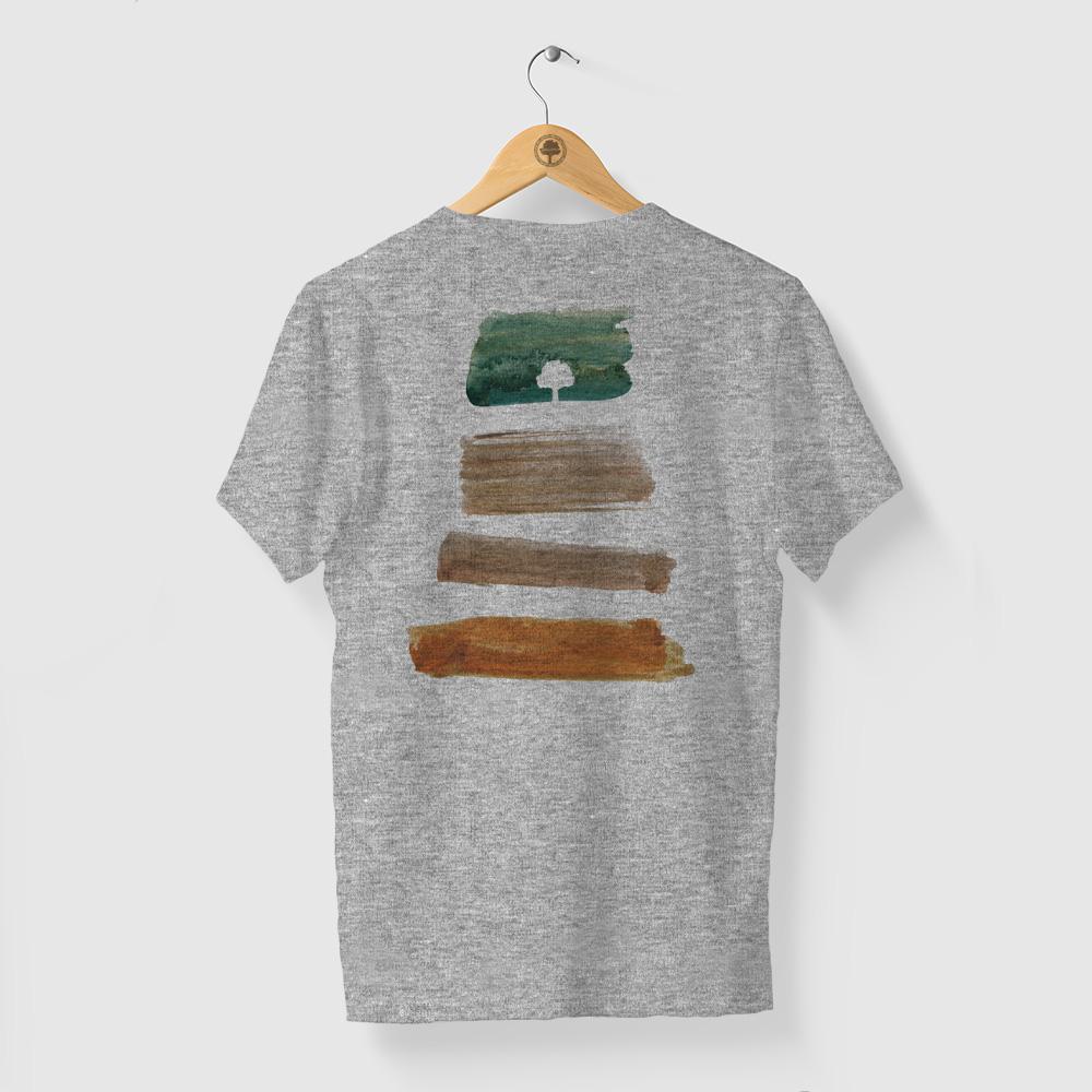 Camiseta Amazônia PACHA MAMA - MESCLA CINZA