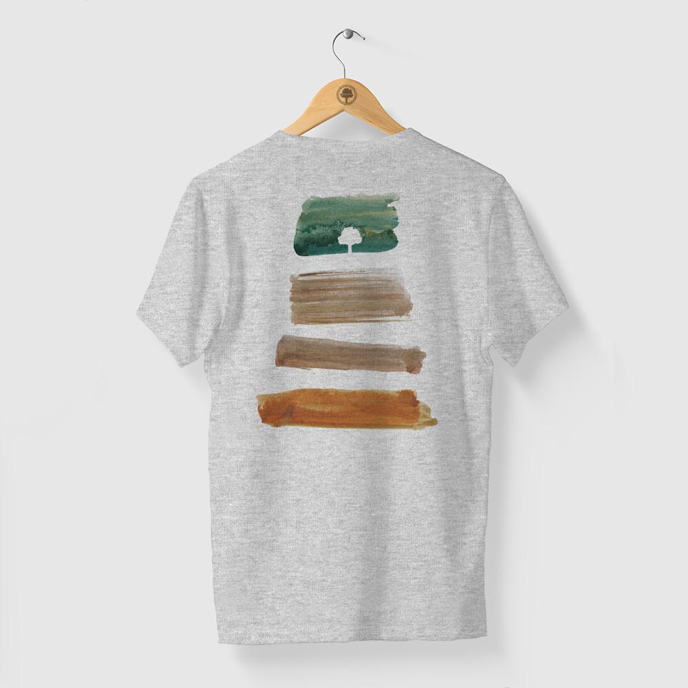 Camiseta Amazônia PACHA MAMA - MESCLA CLARO