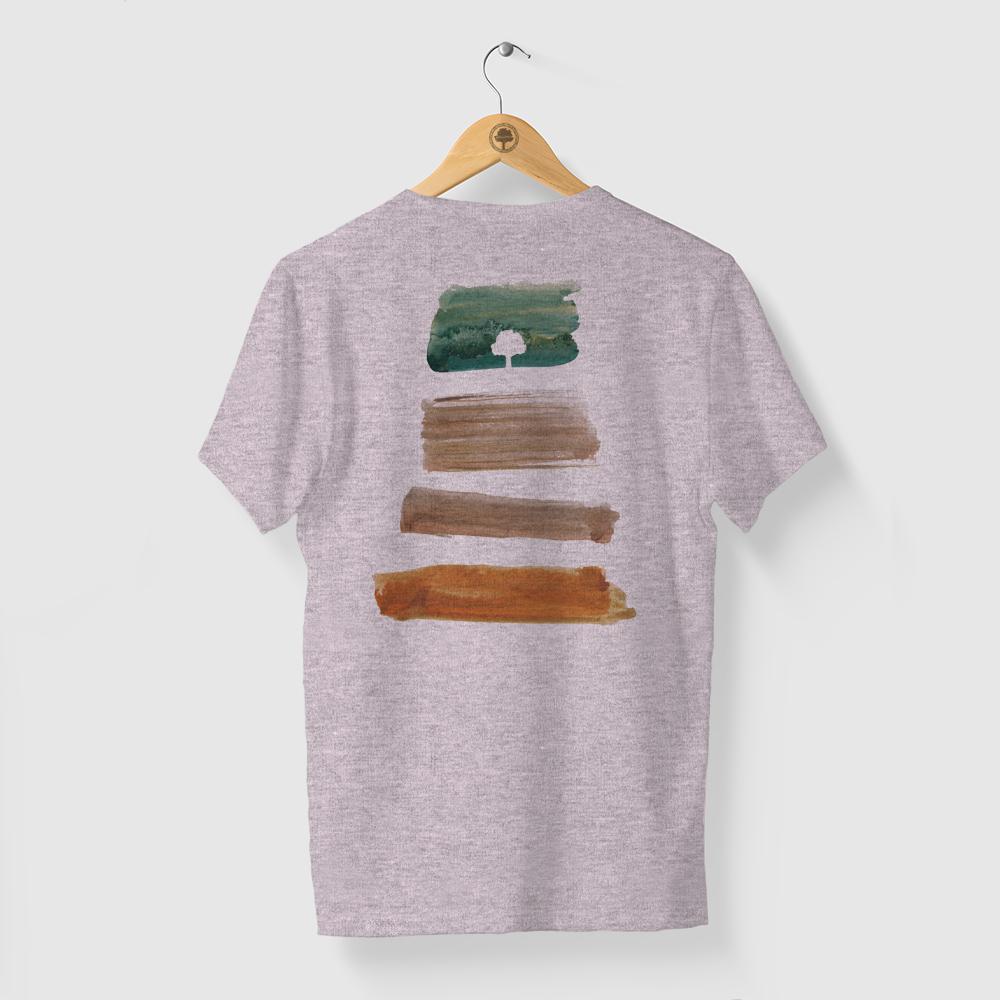 Camiseta Amazônia PACHA MAMA - MESCLA ROSA
