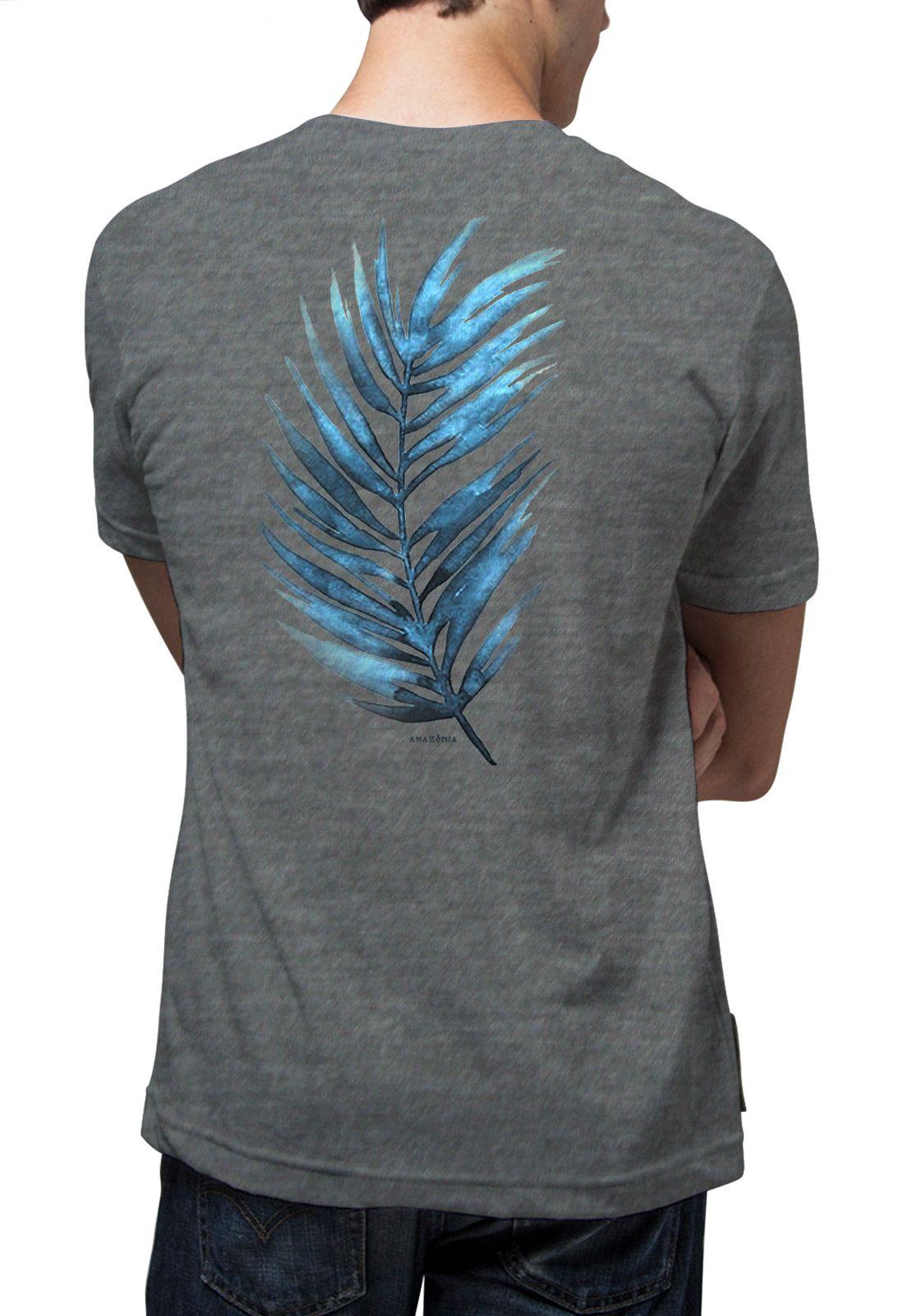 Camiseta Amazônia Palm - Cinza