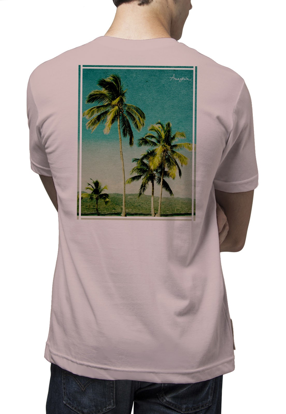 Camiseta Amazônia Paraíso - Rosa