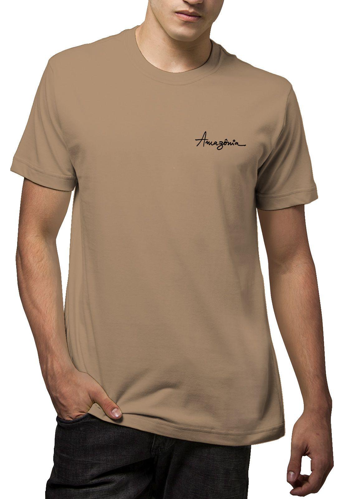Camiseta Amazônia Pássaros - Caqui