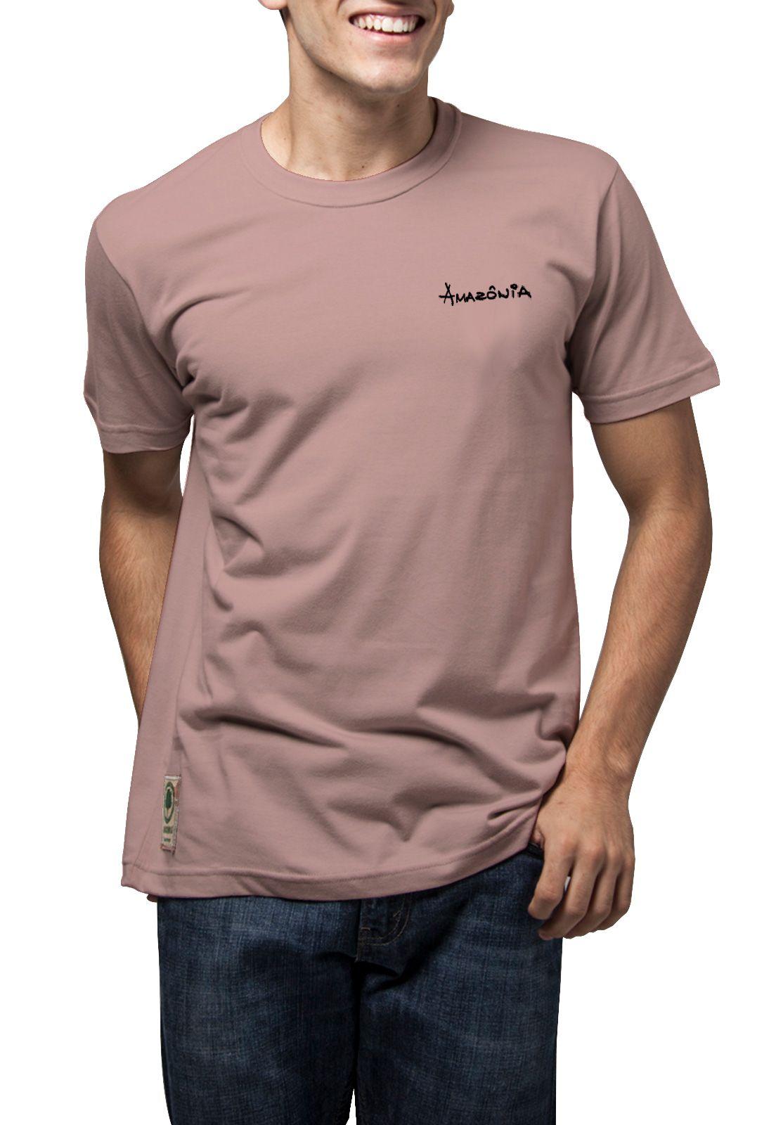 Camiseta Amazônia Pássaros - Rosa