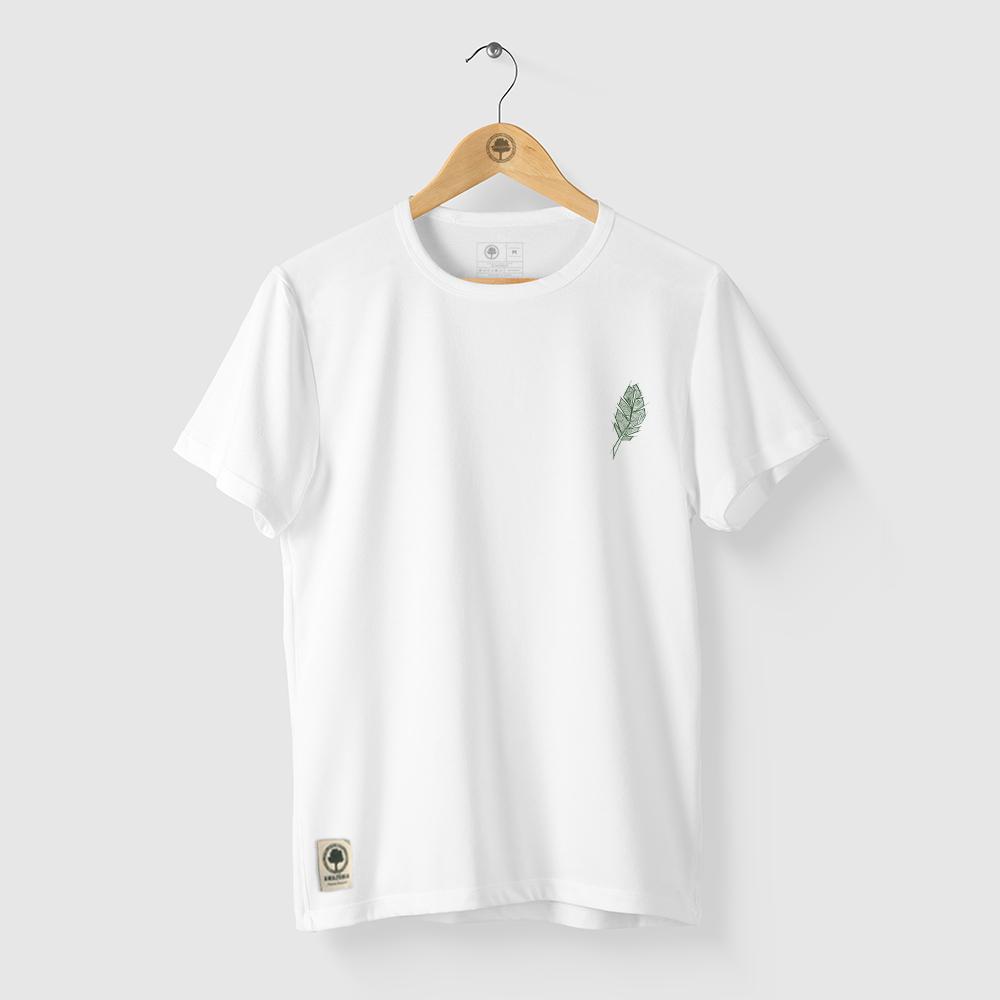 Camiseta Amazônia PENA ÉTNICA - BRANCO