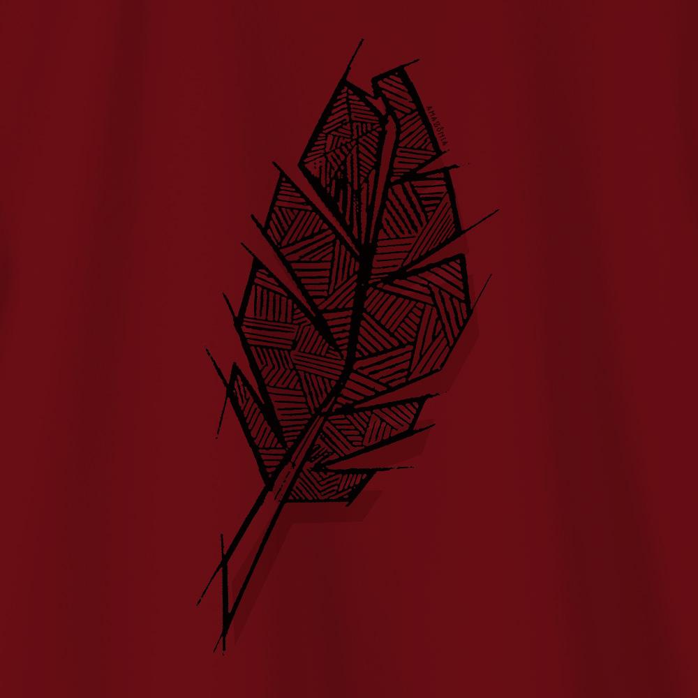 Camiseta Amazônia PENA ÉTNICA - VERMELHO