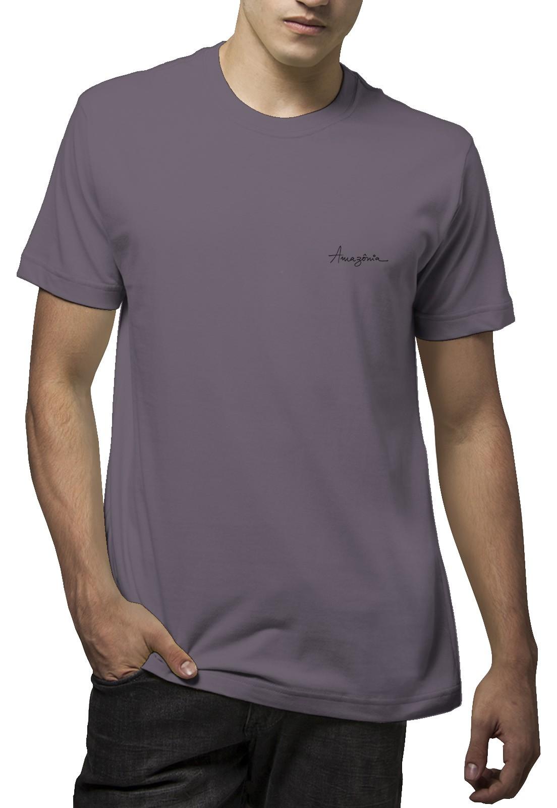 Camiseta Amazônia Penas Mandala - Roxo