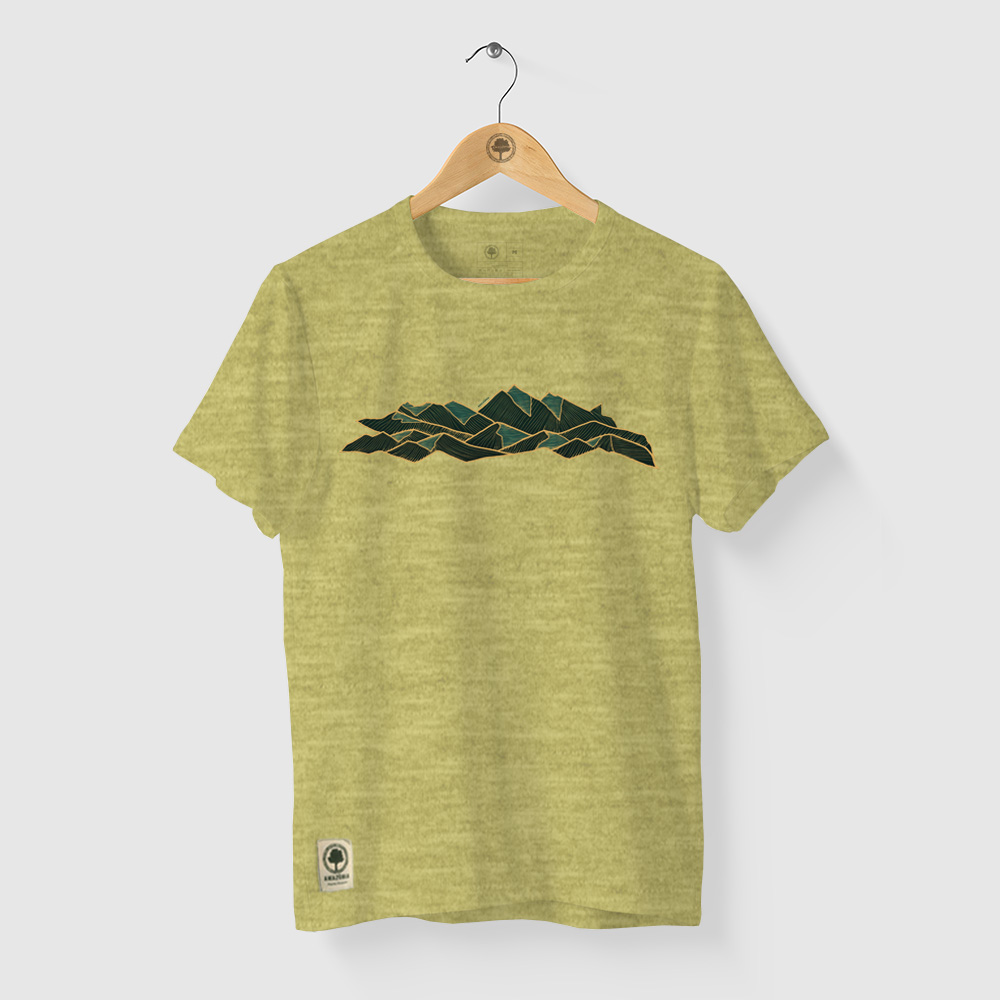 Camiseta Amazônia PICO DA NEBLINA - MESCLA AMARELO