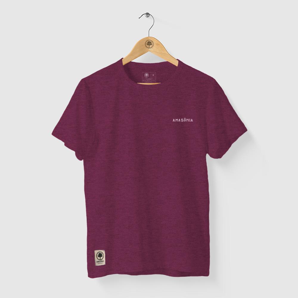 Camiseta Amazônia PINTURA COCAR - MESCLA VINHO