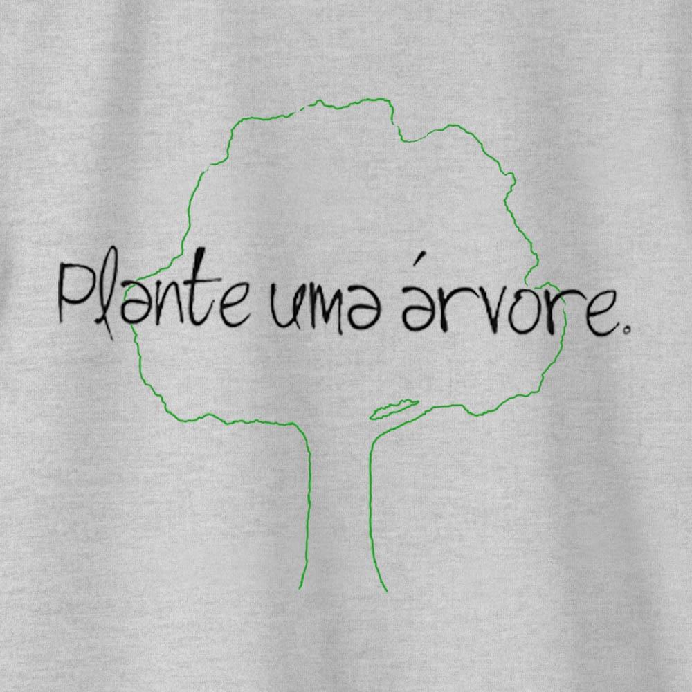 Camiseta Amazônia PLANTE UMA ÁRVORE - MESCLA CINZA