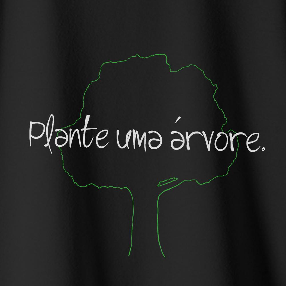 Camiseta Amazônia Plante uma Árvore - Preto