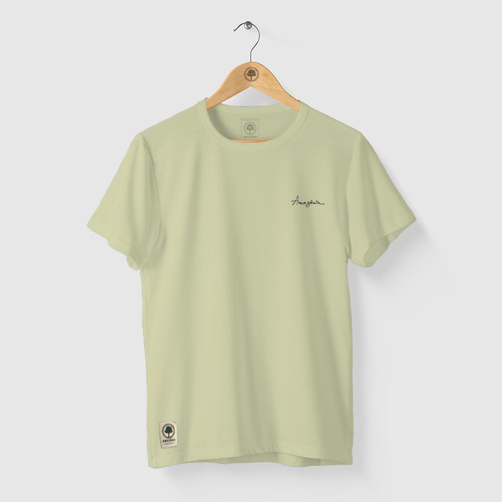 Camiseta Amazônia Plante uma Árvore - Verde Claro