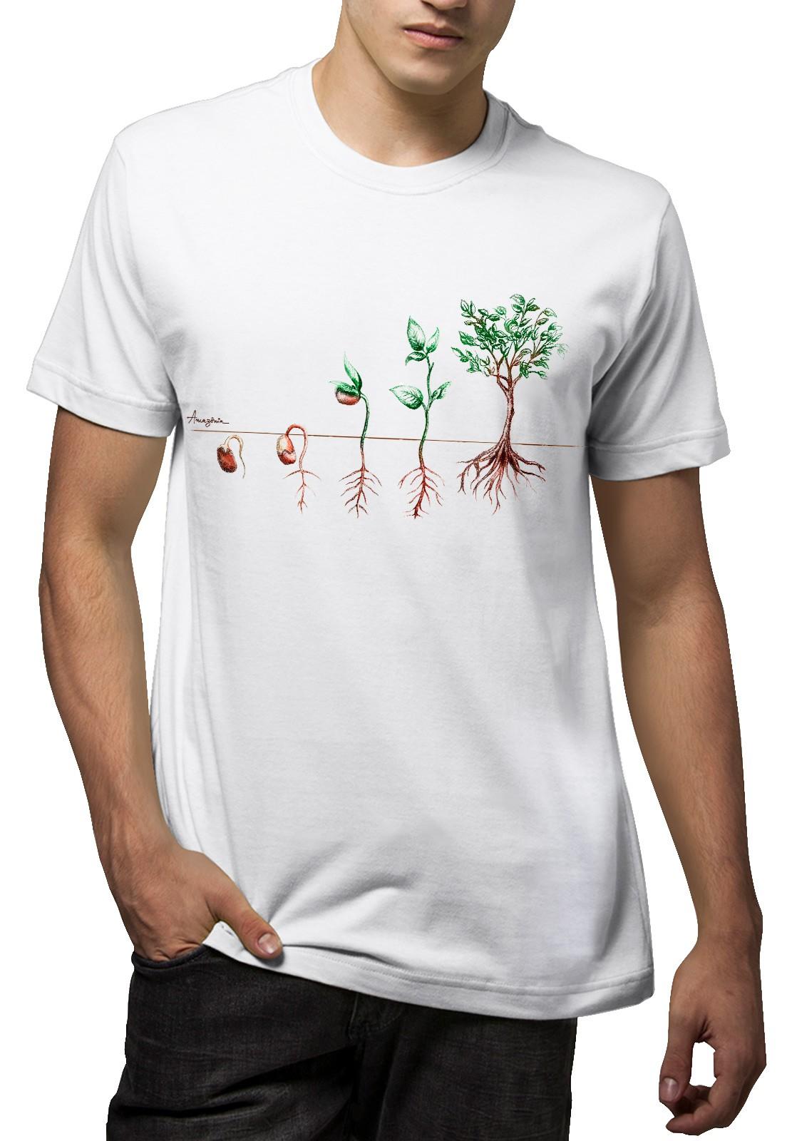 Camiseta Amazônia Plante uma Semente - Branco