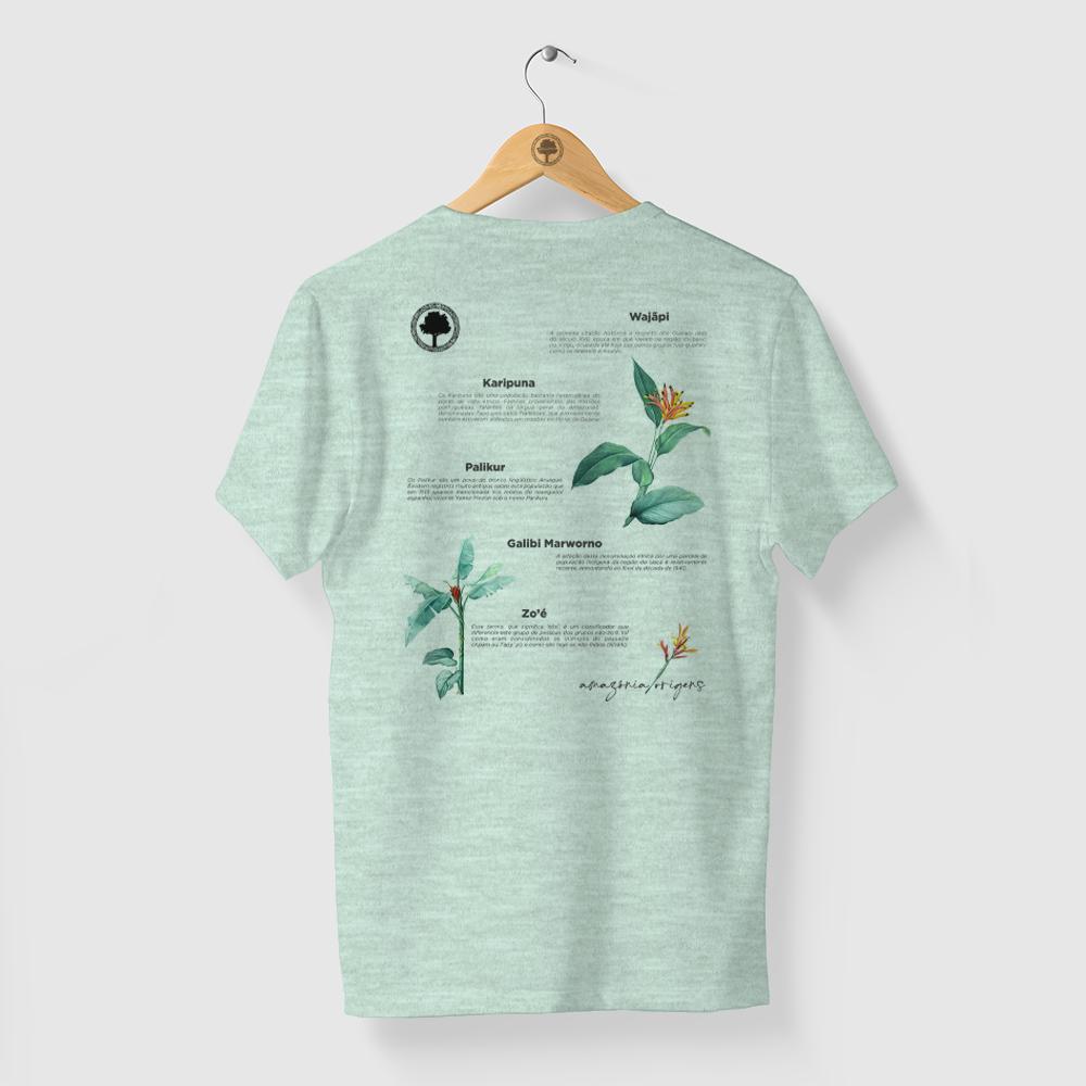 Camiseta Amazônia Povos Indígenas - Mescla Verde