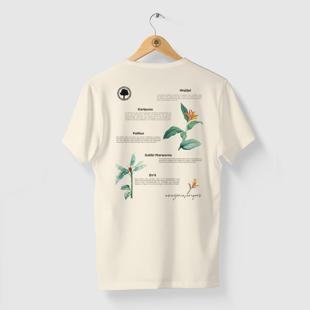 Camiseta Amazônia Povos Indígenas - Off White