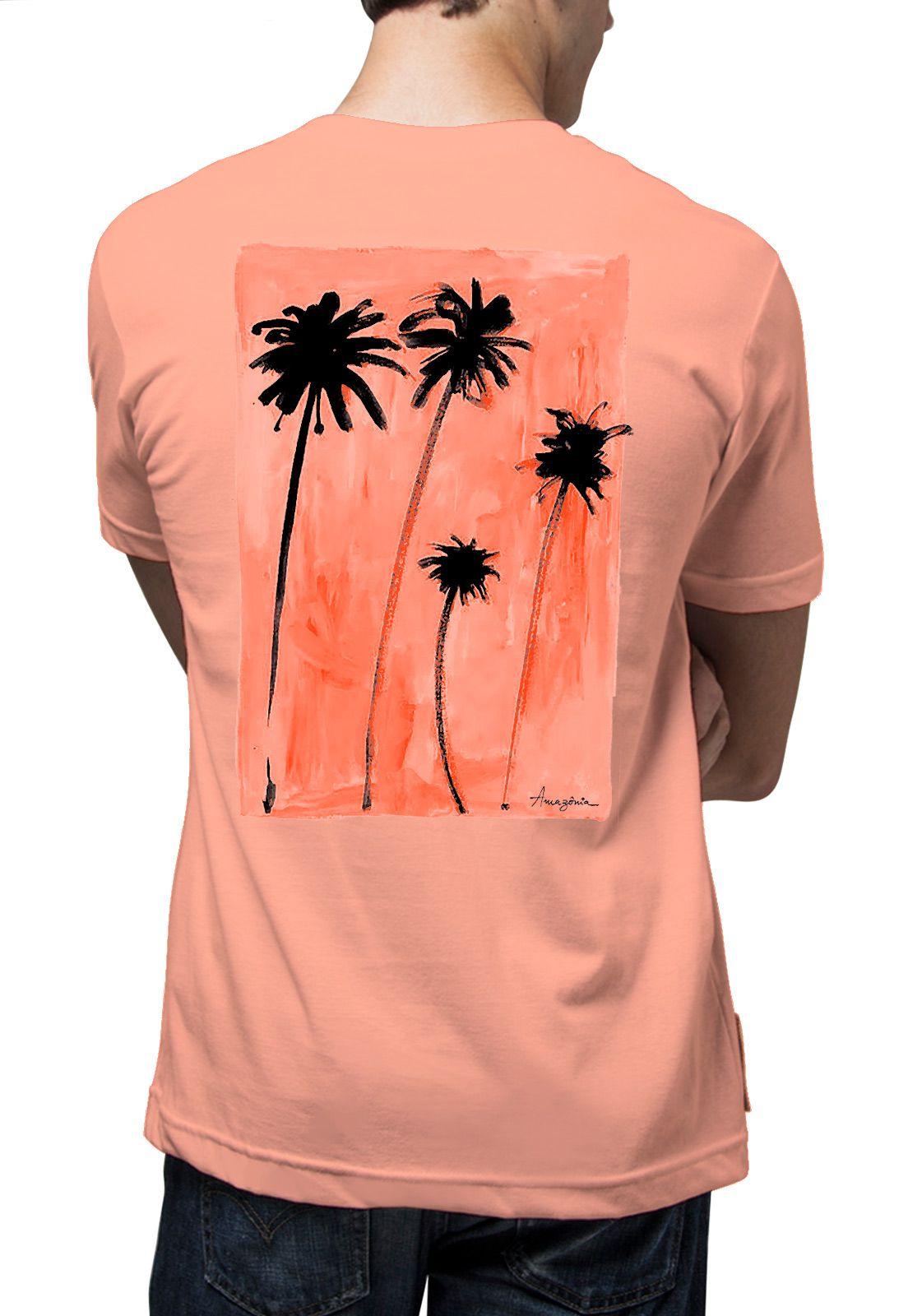 Camiseta Amazônia Praia da Bahia - Salmão