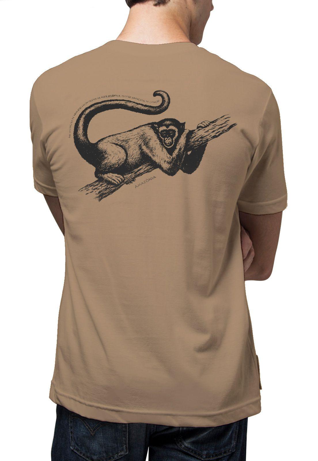 Camiseta Amazônia Primata - Caqui