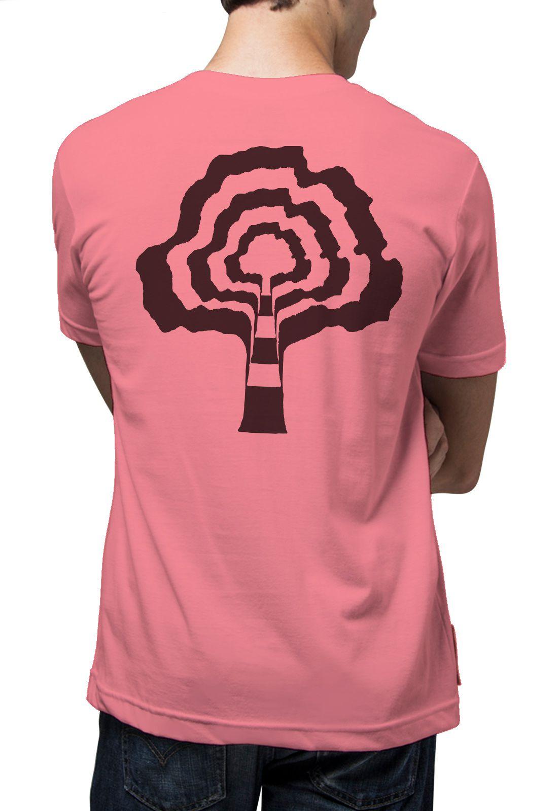 Camiseta Amazônia Psicodelic - Rosa