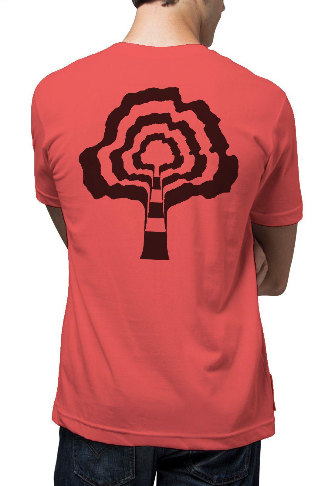 Camiseta Amazônia Psicodelic - Vermelho