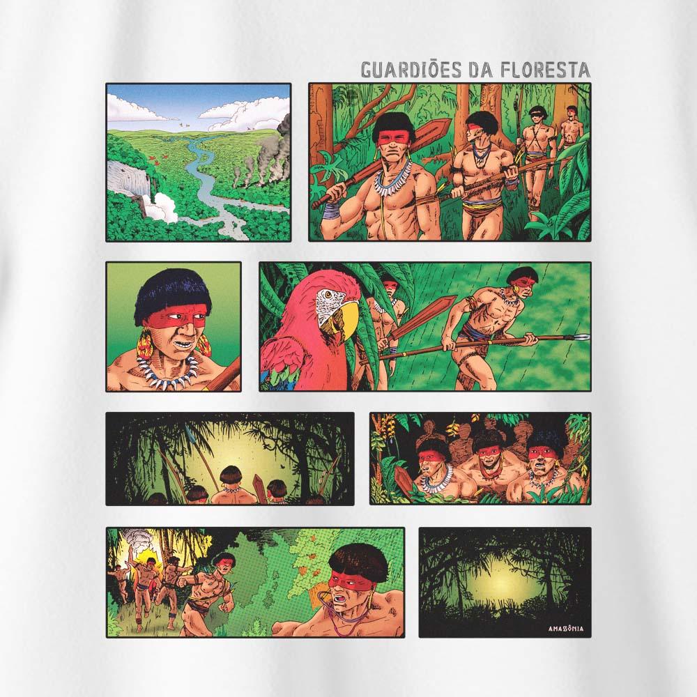 Camiseta Amazônia QUADRINHOS - BRANCO